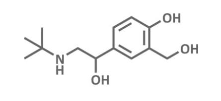 Strukturformel von Salbutamol