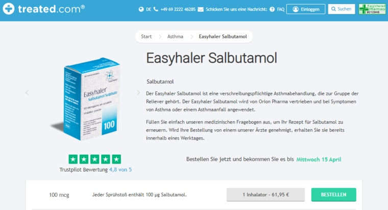 Salbutamol bei Treated